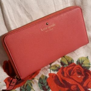 Kate Spade Saffiano Leather Zip Around Wallet